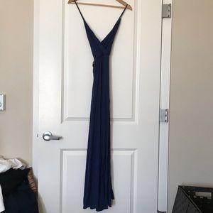 navy blue Lulu gown.